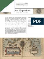 Serie EditorialNewHispanisms