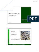 Site Organisation and Management 2015