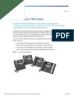 Cisco IP Phone 7800 Series Data Sheet