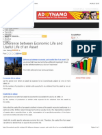 Difference Between Economic Life and Useful Life of an Asset