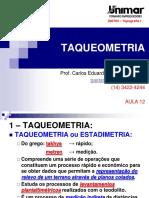 200784-TOPOGRAFIA I - AULA 12 - Taqueometria.pdf