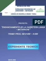 CARATULA LANGA-MATARACHE REPLANTEO 0+000-4+200