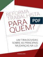 Sobre a Reforma Trabalhista