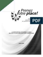 Les États généraux sur la réforme des institutions démocratiques