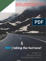 XRP - Taking the Fast Lane