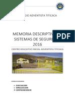 Memoria Descriptiva Evacuacion y Señalizacion
