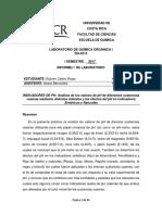 Informe #1 Indicadores de PH