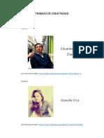 Trabajo de Creatividad - Informe - Bosquejos