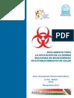 Reglamento Norma Boliviana de Bioseguridad