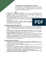 Periodización Lit Latinoamericana Obredor Breve
