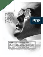 Programa. I Congreso Internacional de Teorías, Crítica e Historia Literarias Latinoamericanas. Antonio Cornejo Polar. 2016