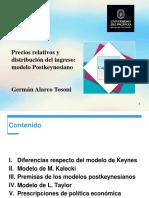 Precios Relativos y Distribución Del Ingreso Modelo Postkeynesiano