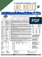 6.25.17 vs. MIS Game Notes