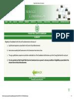 Ppsc Instructions Eligibility