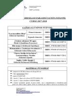 LIBROS y Material (4 Años Alumnos Nuevos) 17-18
