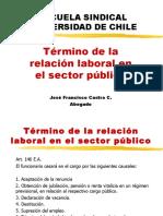 Término de La Relación Laboral en El Sector Público 2012 31-05-2012