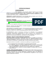 Modelo Contrato de Trabajo Plazo Fijo Bolivia