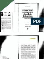 Periodismo Interpretatitivo.Concha Fagoaga