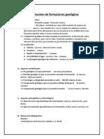 Ficha Resumen de Formaciones Geológicas