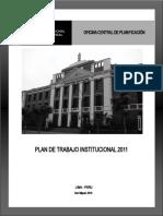 UNFV Plan de Trabajo Institucional 2011