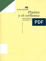 BERNABE PAJARES] Platón y el orfismo. Diálogos entre religión y filosofía (1).pdf