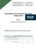 IMCO-CR1027653-PRC-1013 - Procedimiento de Inspección Por Tintes Penetrantes