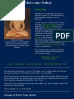 Kriya Yoga Gurus Lineage 2010