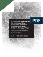 Programa II Congreso Teorías, Crítica e Historias Literarias Latinoamericanas 2017