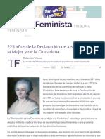 225 Años de La Declaración de Los Derechos de La Mujer y de La Ciudadana _ Tribuna Feminista