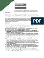 SWOT Assignment Description