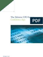 Deloitte CFO Survey 2010Q2