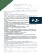 Reglamento de Operacion de Fondos Fijos de Caja Chica