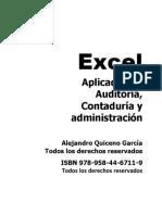 Excel Aplicado a La Auditoria Contaduria y Administracion