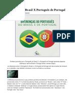 Diferenças Do Portugues de Portugal e Brasil