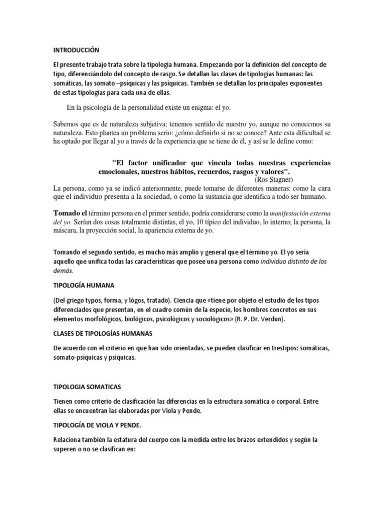 Tipologia Del Yo Homo Sapiens Concepto