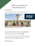 irregularidades en Procesos de Selección Del Municipio de Ayabaca