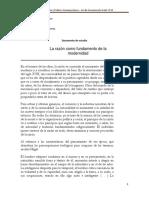 La Razón Como Fundamento de La Modernidad - Documento de Cátedra(1)