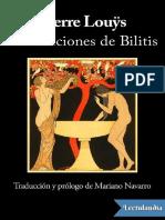 Las Canciones de Bilitis - Pierre Louys (1)