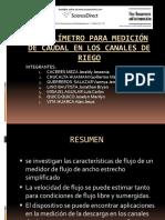 Caudalímetro Para Medición de Caudal en Los Canales.pptx