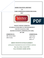 Hr and Welfare Conditions in Veetee Fine Foods Ltd (Veetee)