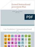 data-informed instructional improvement plan