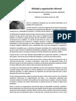Lectura Afinidad y Organización Informal BONAN
