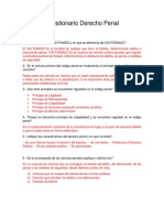 Cuestionario Derecho Penal I