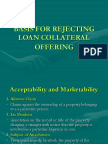 When to Reject Loan Collateral Offers