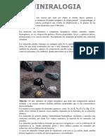 Mineralogia Fcyt G.G.