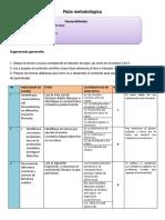 ruta metodologica 1° año