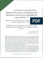 Diseño de un proceso de separación de los componentes de residuos metaloplásticos de la fabricación de ¡untas para estanqueidad