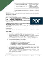 HACCP-P-012 Manejo de Reprocesos