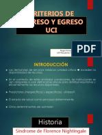 Criterios de Ingreso y Egreso UCI