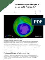 4.-Cuáles Son Las Razones Por Las Que La Capa de Ozono Se Está